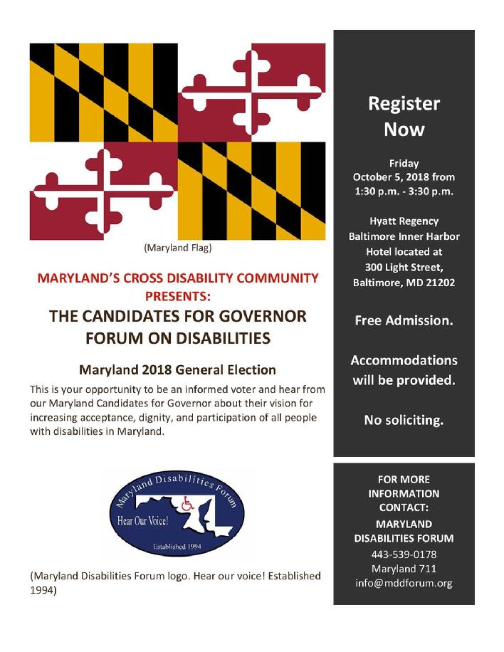 Registration Flyer: 2018 Candidates for Governor Forum